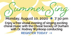 Choral Society of Durham Summer Sing